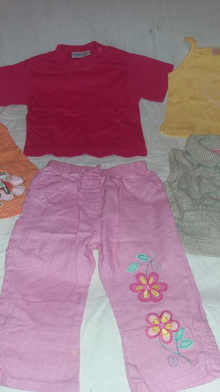 Комплект вещей на лето для девочки 68-74 см