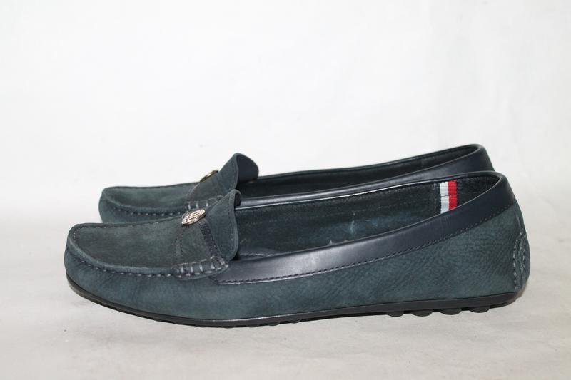 Кожаные туфли/мокасины tommy hilfiger 39 размер - Фото 2