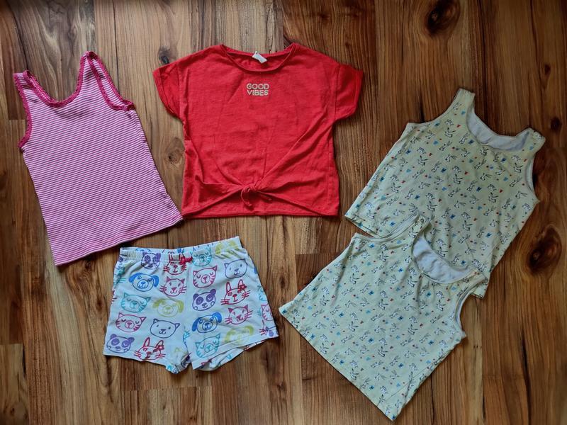 Комплект на 5 лет шорты майки