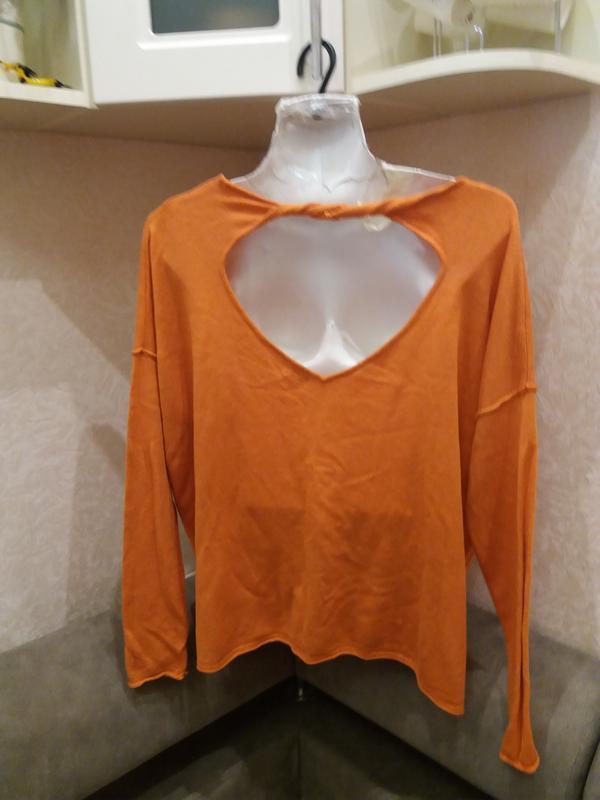 Апельсиновый шкодливый свитер  свитшот--оверсайз