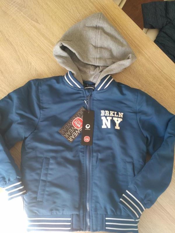 Стильная деми куртка бомбер cool club by smyk, утепленная, 116...