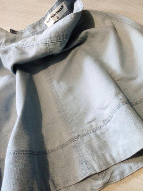 Брендовая юбка котон джинсовая - Фото 2