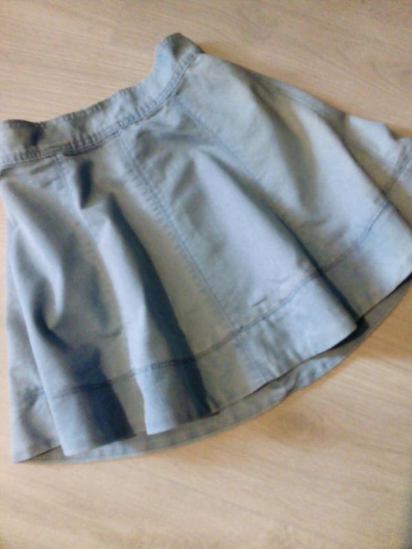 Брендовая юбка котон джинсовая - Фото 3