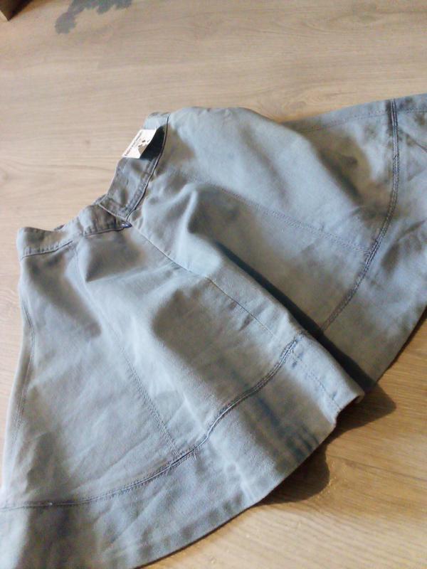 Брендовая юбка котон джинсовая - Фото 6