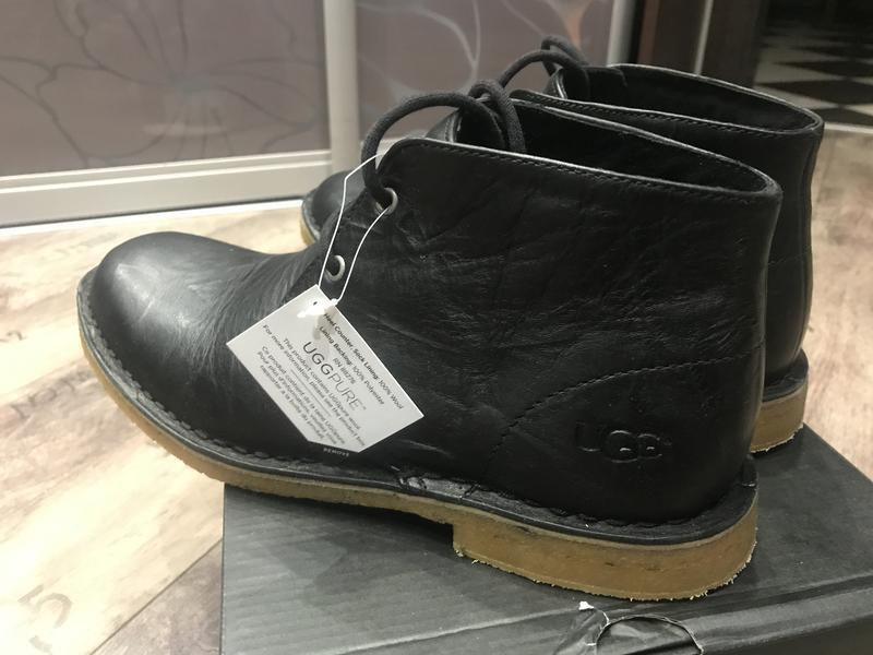 Ботинки ugg leighton black