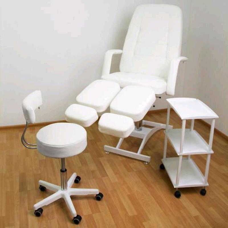 Кушетка для педикюра (стул мастера+тележка) набор