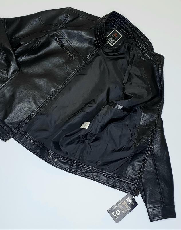 Куртка мужская кожезаменитель весенне осенняя - Фото 5
