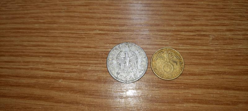 Монеты Германии 1935 и 1939 год
