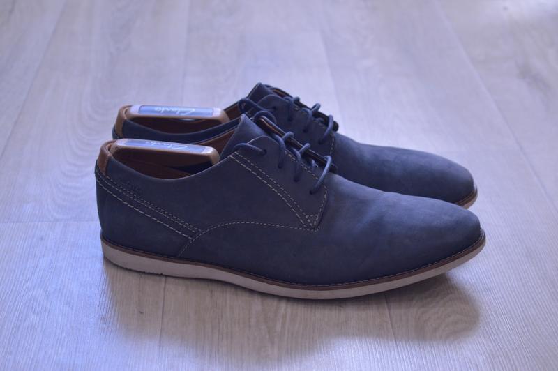 Clarks мужские туфли дерби кожа нубук оригинал англия осень
