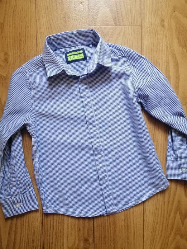 Стильная рубашка next на 4 года