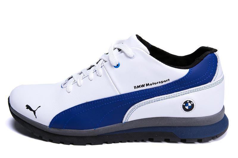 Мужские зимние кожаные кроссовки  Puma BMW MotorSport White Pearl - Фото 7