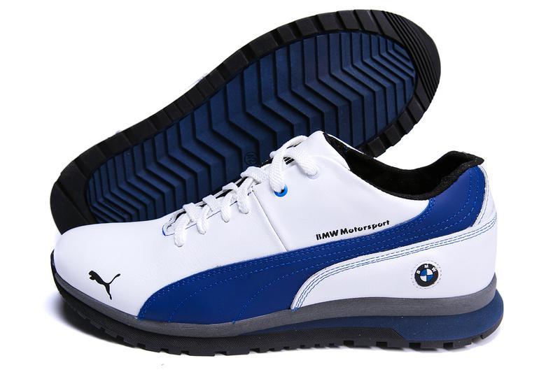 Мужские зимние кожаные кроссовки  Puma BMW MotorSport White Pearl - Фото 10
