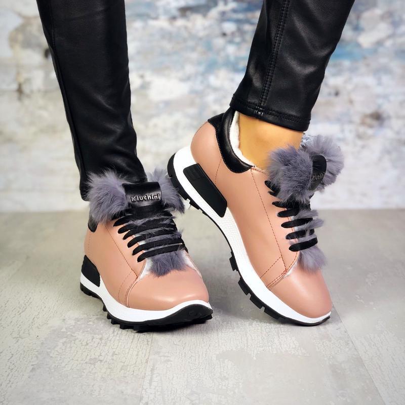 Натуральная кожаа эксклюзивные утепленные кожаные кроссовки с ...