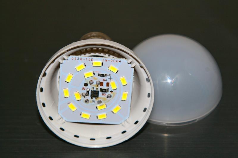 Лампа Hualin 9W LED 6400K e27, заявленная яркость 600lm - Фото 5