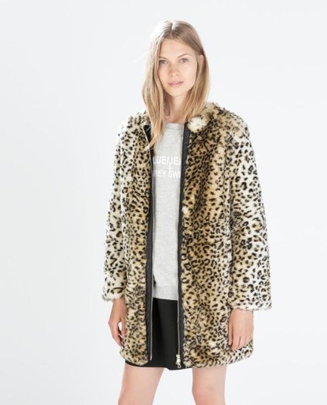 Леопардовая шубка от zara, размер м-l