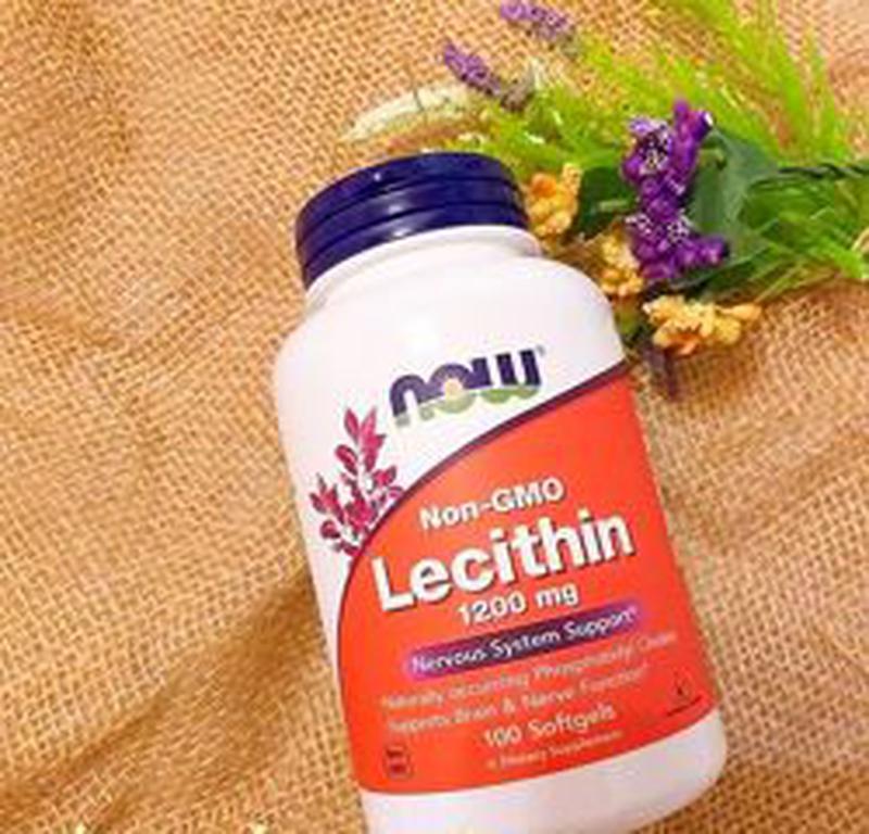 Лецитин, 1200 мг, 100 капсул,Now Foods