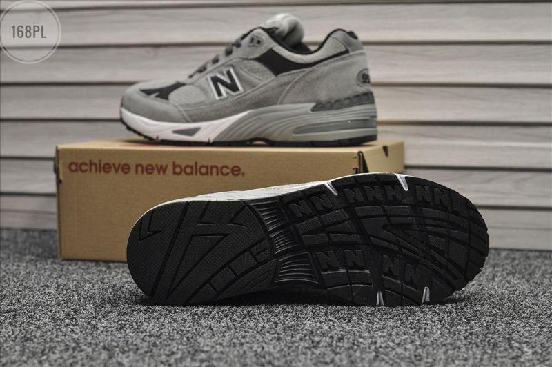 Серые осенние мужские кроссовки нью беленс new balance 991 lig... - Фото 3