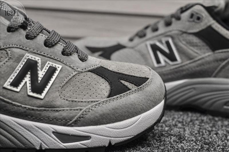 Серые осенние мужские кроссовки нью беленс new balance 991 lig... - Фото 4