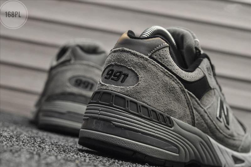 Серые осенние мужские кроссовки нью беленс new balance 991 lig... - Фото 5