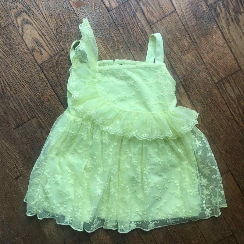 Классное лимонное платье с кружевом lc waikiki