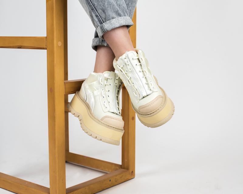 Шикарные женские кроссовки puma x fenty zipped sneaker boots (...