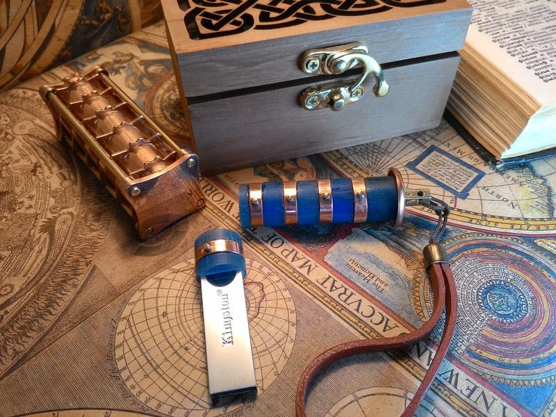 Флешка Криптекс стимпанк, подарок, USB Flash, steampunk