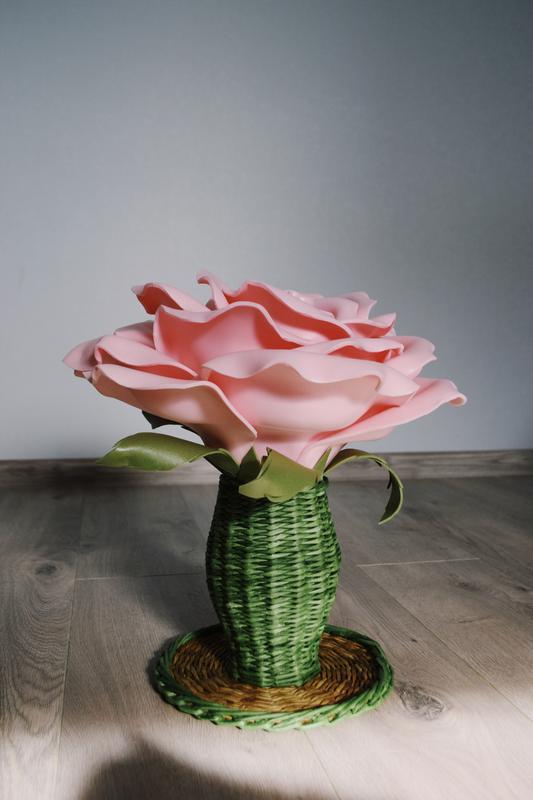 Декоративная роза на подставке - Фото 2
