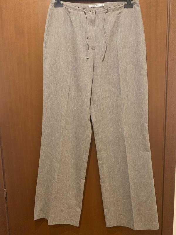 Летние прямые серые брюки