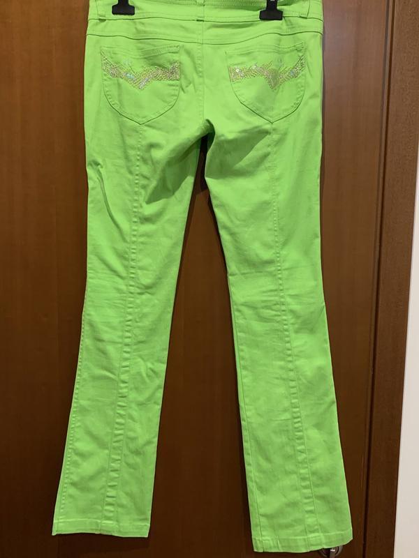 #розвантажуюсь ярко салатовые джинсы - Фото 2