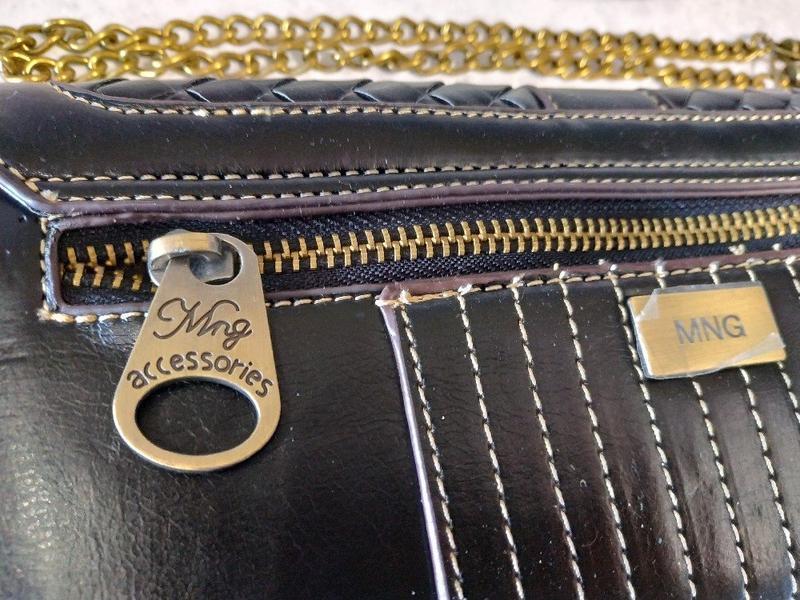Винтажный женский клатч - кошелек черный mango - Фото 5