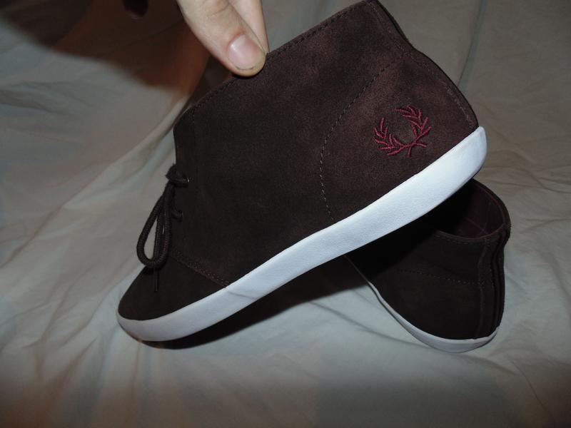 Туфли кеды высоки из натуральной замши fred perry оригинал