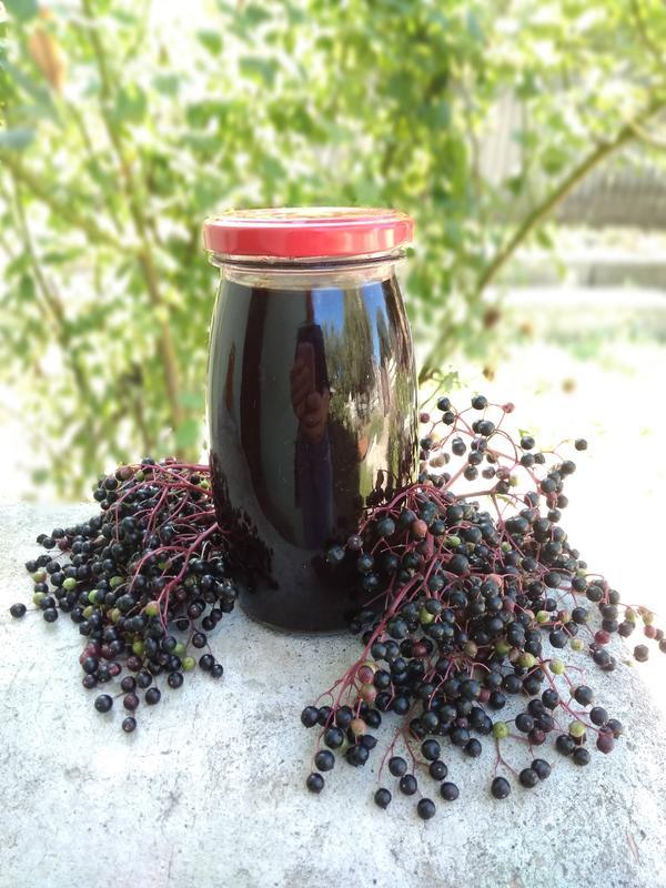 Чистый 100% сок ягод бузины черной, 0.5 л