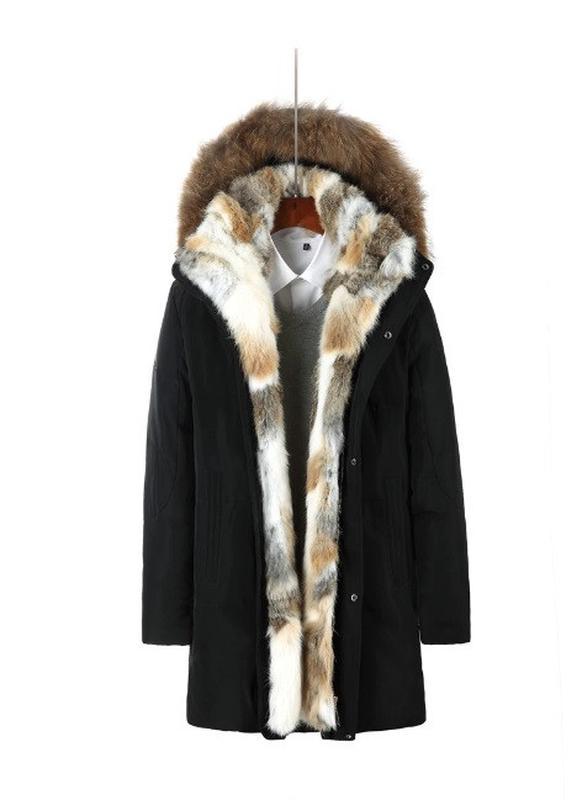 Зимний мужской пуховик черный - Фото 2