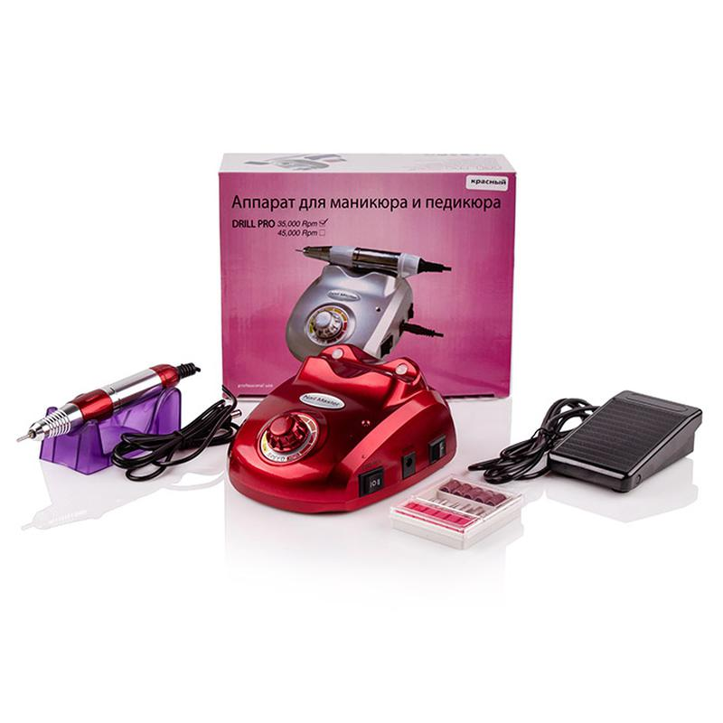 Фрезер Nail Drill ZS-603 PRO Red (35000 об/45 Вт)