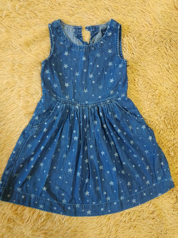 Стильное платье для девочки 6-7 лет от gap