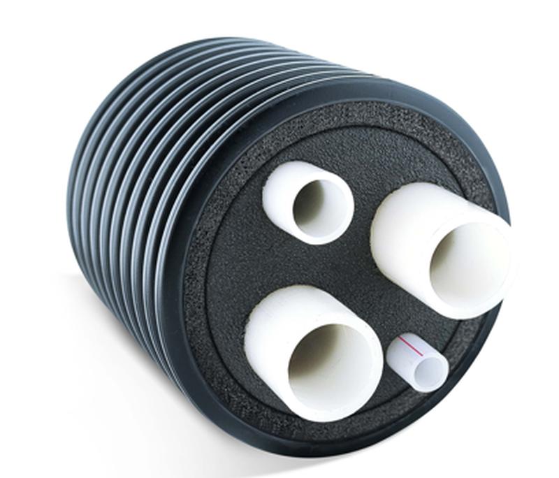 Четвертной трубопровод PEX ц.о. 95°C 6 bar, т.в. 70°C 10 bar