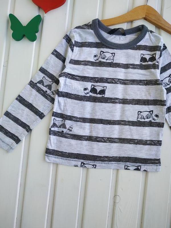2-3 года, футболка с длинным рукавом,george - Фото 2
