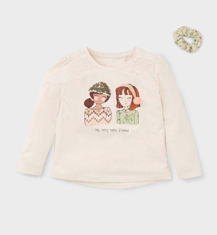 Детский реглан с девочками c&a, на 2-4 года, новый
