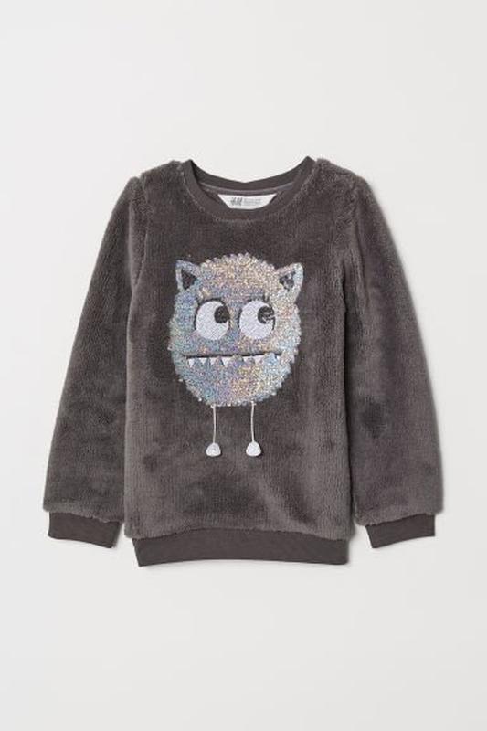 Меховушка свитер на девочку h&m мострик