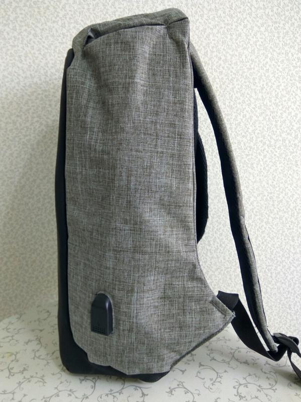 Рюкзак для ноутбука городской, спортивный антивор с usb выходо... - Фото 5