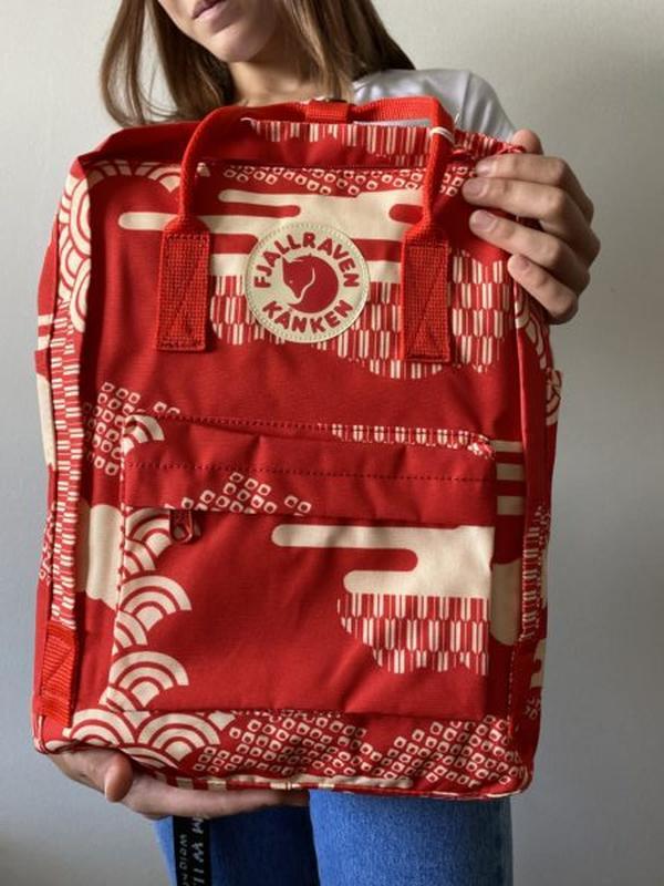 Рюкзак женский kanken classic art 16l | рюкзак жіночий портфель - Фото 3