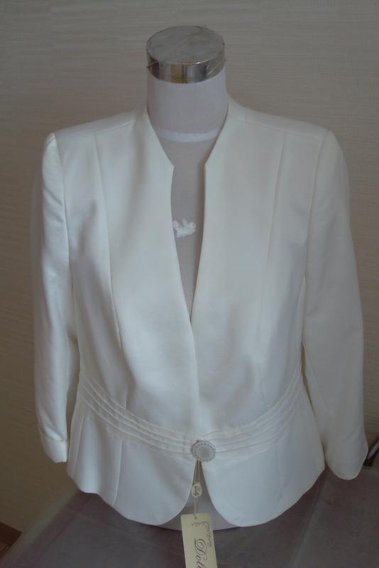 🌹🌹нарядный женский пиджак цвета шампань 3/4 рукав dolly польша... - Фото 4