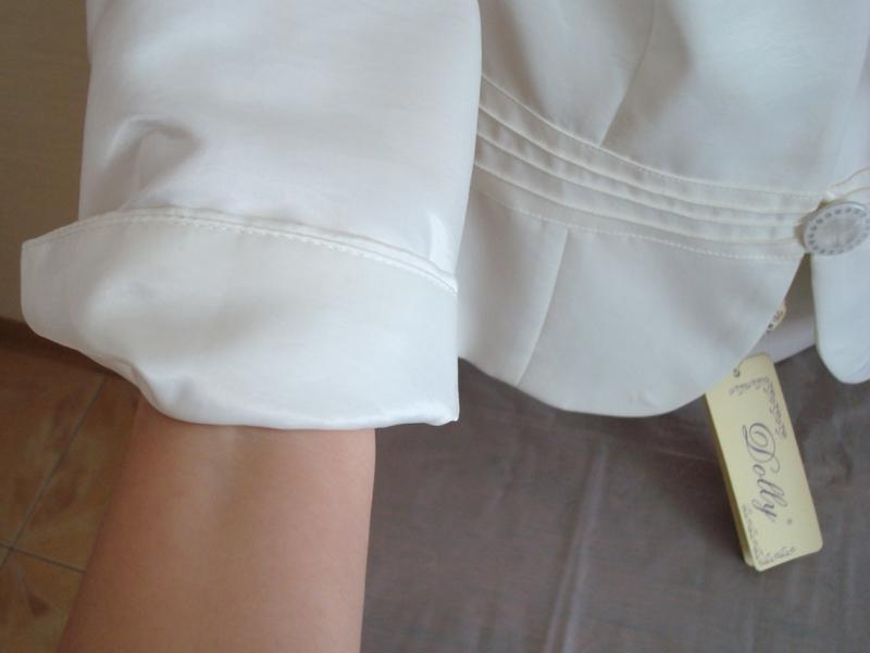 🌹🌹нарядный женский пиджак цвета шампань 3/4 рукав dolly польша... - Фото 6