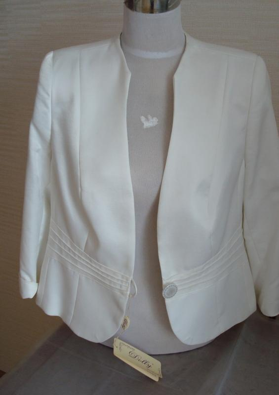 🌹🌹нарядный женский пиджак цвета шампань 3/4 рукав dolly польша... - Фото 7