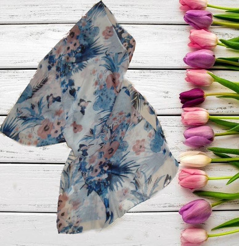 🐞🐞легкий красивый шарф в цветочный принт германия 🐞🐞🐞