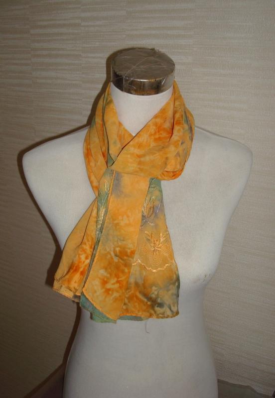 🌻🌻легкий красивый шарф  разноцветный с вышивкой 🌻🌻🌻
