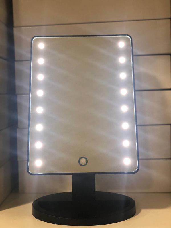 Зеркало для макияжа со светодиодной подсветкой