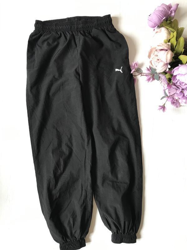Чёрные спортивные штаны брюки puma оригинал 10-12 лет
