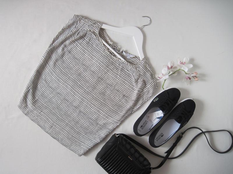 Полосатая блуза new look с переплетами завязками на спине морс...