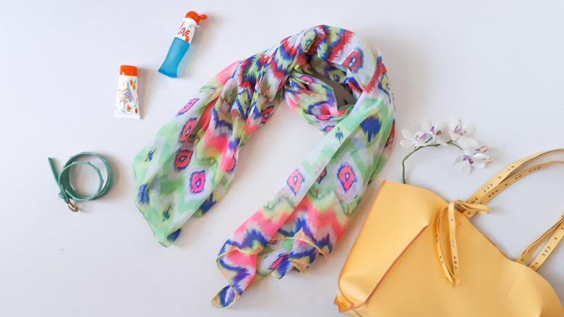 Большой весенний шарф 100 % вискоза трендовая неоновая расцвет...